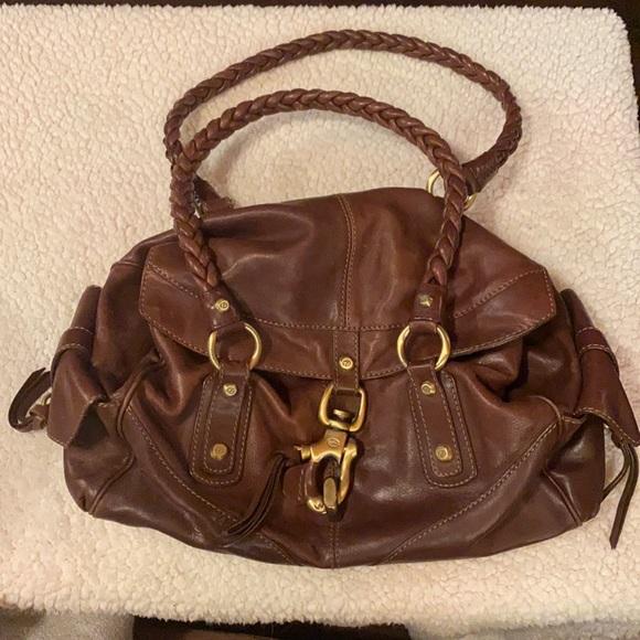 Francesco Biasia Brown Leather Shoulderbag